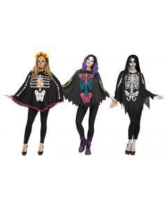 Skeleton Poncho Assortment - Adult