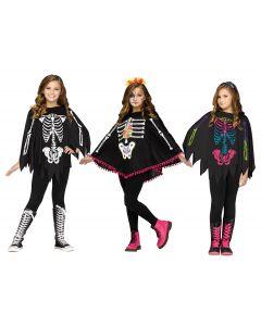 Skeleton Poncho Assortment - Child