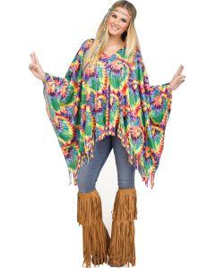 Tie-Dye Hippie Poncho - Adult