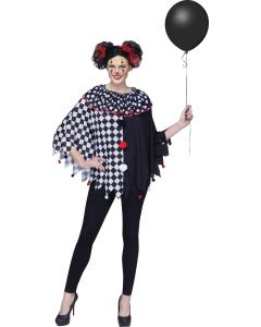 Black/White Clown Poncho