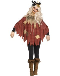 Scary Crow Poncho - Adult