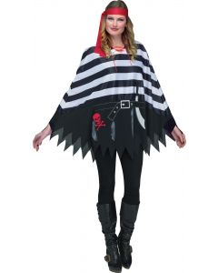 Pirate Poncho - Adult