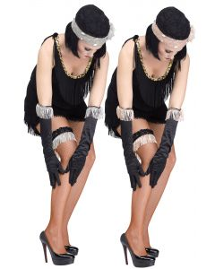 Flapper Fringe Gloves & Garter Set Assortment