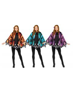 Butterfly Poncho Assortment - Adult