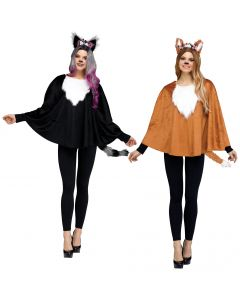 Deluxe Animal Poncho Assortment - Adult