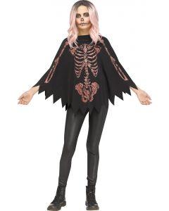 Shimmer Skeleton Poncho - Child