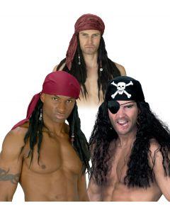 Pirate Bandana w/ Hair