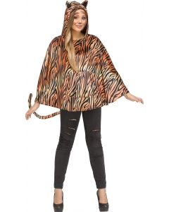 Tiger Poncho - Adult