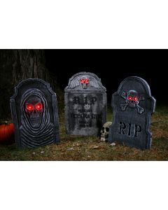 "22"" Light-Up Tombstones"