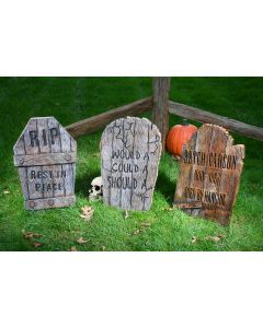 "22"" Wood-Look Tombstone Assortment"