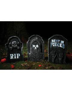 LED Bone Tombstones Assortment