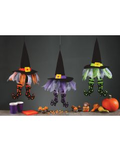 "24"" Floating Witch Hats with Legs Assortment"