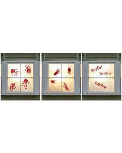 "Bloody Window Clings Assortment 12"" x 15"""