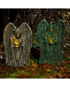 "21"" LU Candle Light Winged Tombstone Assortment"