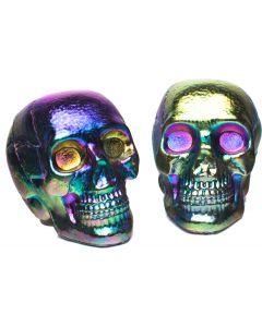 Oil Slick Mini Skulls in Mesh Bag