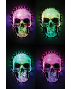Light Up Breakout Skull Decor