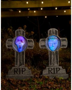 "36"" Light Up Michael MyersTM/Ghost Face® Tombstone Assortment"