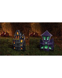 "22"" LU Folding Haunted House Decor Assortment"