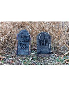 "16"" Wood Look Tombstone Assortment"