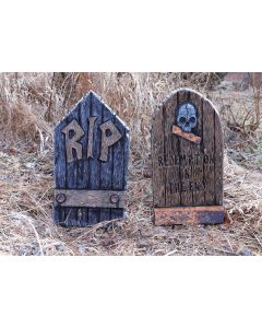 "21"" Wood Look Tombstone Assortment"