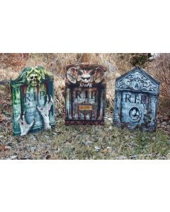 "22"" PhotoReal Foldable Tombstone Assortment"
