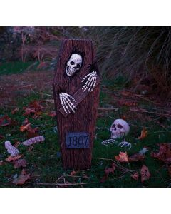 "27"" Peeping Skeleton Coffin"