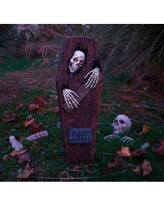 "27"" LU Peeping Skeleton Coffin"