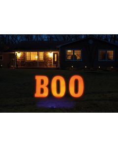 Boo! Yard Sign & Black Light Set