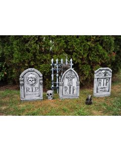 """Stone Look 22"""" Photoreal Tombstone Assortment - 3 Pack"""