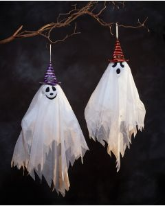 "27"" Hanging Ghost with Hat Assortment"