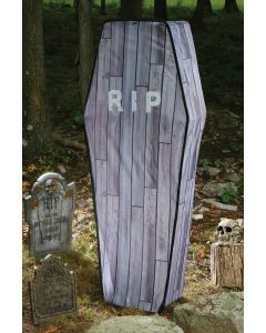 5 Foot Collapsible Coffin Wood Grain