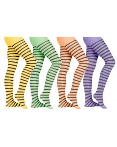 Adult Stripe Pantyhose Assortment