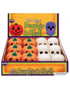 "3"" Color Change Pumpkin & Skull Assortment"