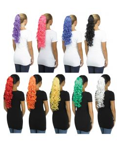 Unicorn Pigtail - Solid Color Curly
