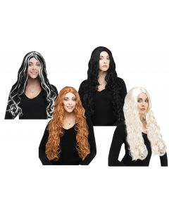 "30"" Long Curly Wig Assortment"