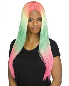 Long Rainbow Omabré Wig