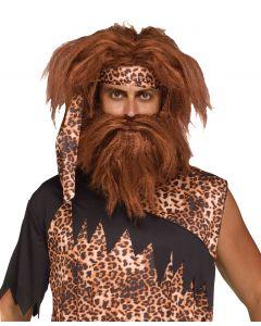 Cave Man Wig & Beard Set