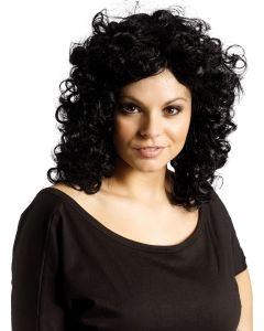 Black Curly Party Wig