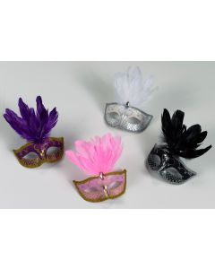 Carnival Mask - Feather Assortment