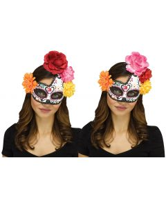 Day of the Dead Half Moon Mask