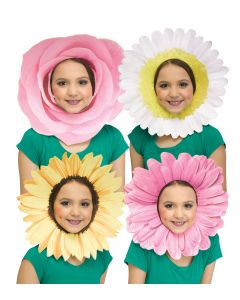 Fun Flower Faces Mask Assortment