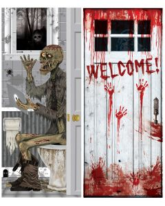 "30"" x 72"" Creepy Look Door Cover Assortment"