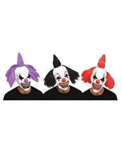 Hooligan Clown Mask w/Hair Assortment