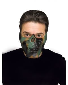 Camouflage 1/2 Skull Jaw Mask