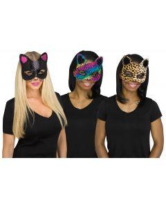 Cat Masks w/Tattoos Assortment