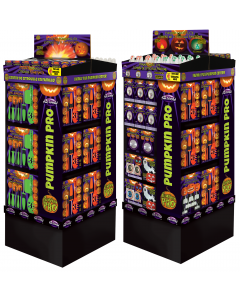 4 Sided Pumpkin Carving Tower - Flame Top