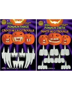 Glow-In-The-Dark Pumpkin Fangs Assortment