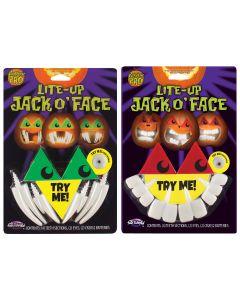 Light Up Jack-O-Face Assortment PDQ