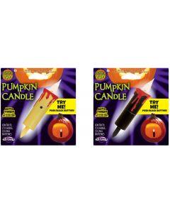 """3"""" LED Flicker Pumpkin Candle Assortment PDQ"""