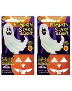 LU Color Change Pumpkin Light & Stake PDQ
